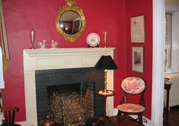 One of six fireplaces in the historic Annapolis Bed and Breakfast.